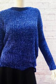Sweater Land Chunky chenille sweater with scalloped hem - Product Mini Image