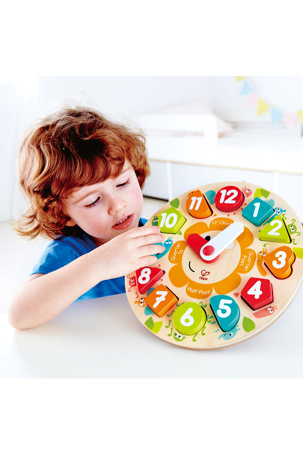 Hape  Chunky Clock Puzzle - Side Cropped Image