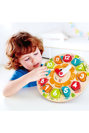 Hape  Chunky Clock Puzzle - Side cropped