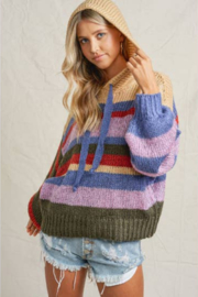 Maronie  Chunky Color Block Sweater - Product Mini Image