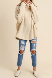 Doe & Rae Chunky Cowl Neck Pullover - Product Mini Image