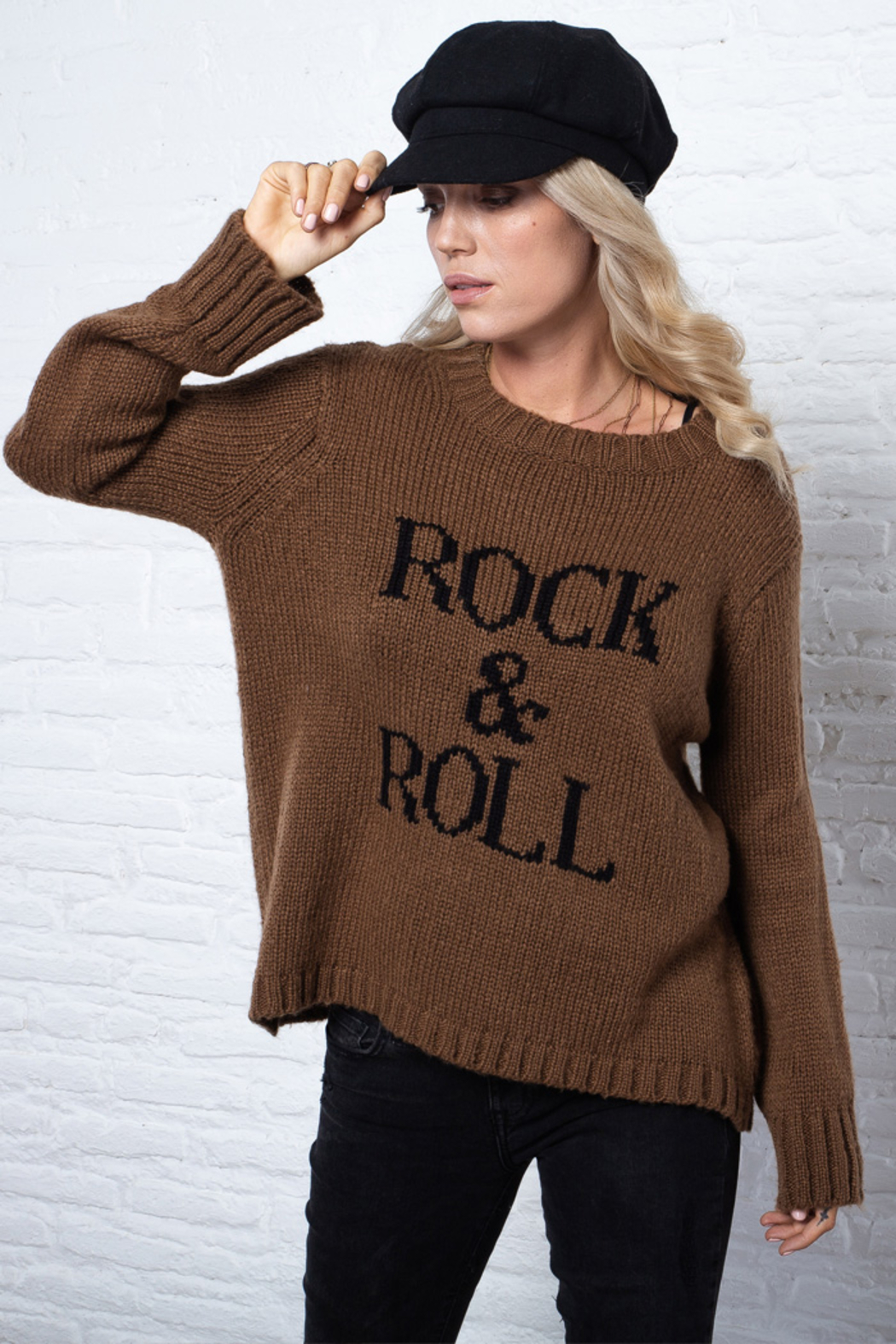 Wooden Ships Chunky Crew Pullover Sweater - Side Cropped Image