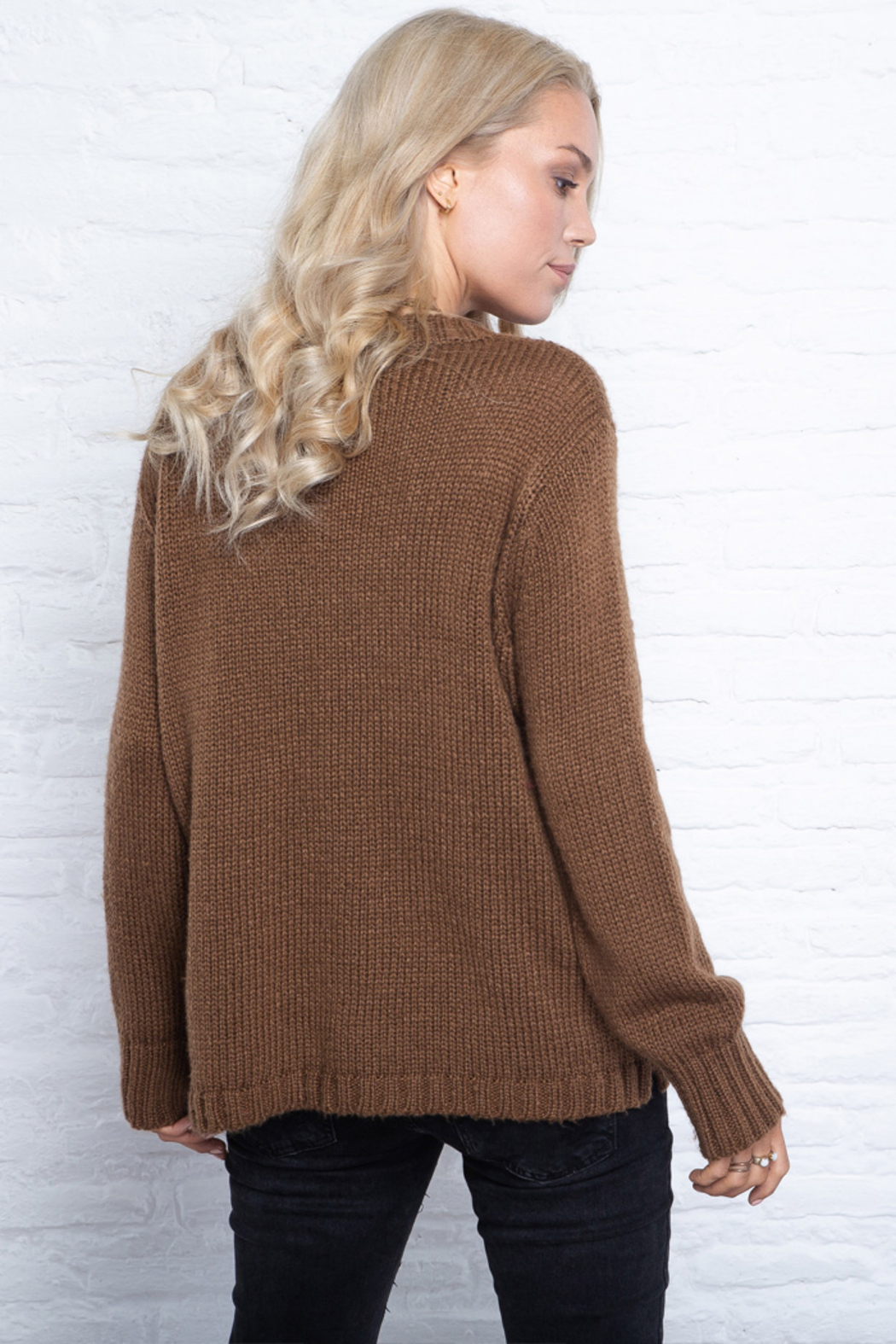Wooden Ships Chunky Crew Pullover Sweater - Front Full Image