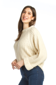 Papillon Chunky Cropped Sweater - Product Mini Image