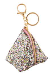 Fashion Angels Chunky Glitter Triangle Pouch Bag Charm - Product Mini Image