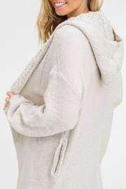 Listicle Chunky Hooded Cardigan - Product Mini Image