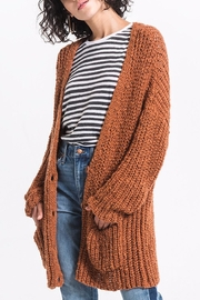 rag poets Chunky Knit Cardigan - Front cropped