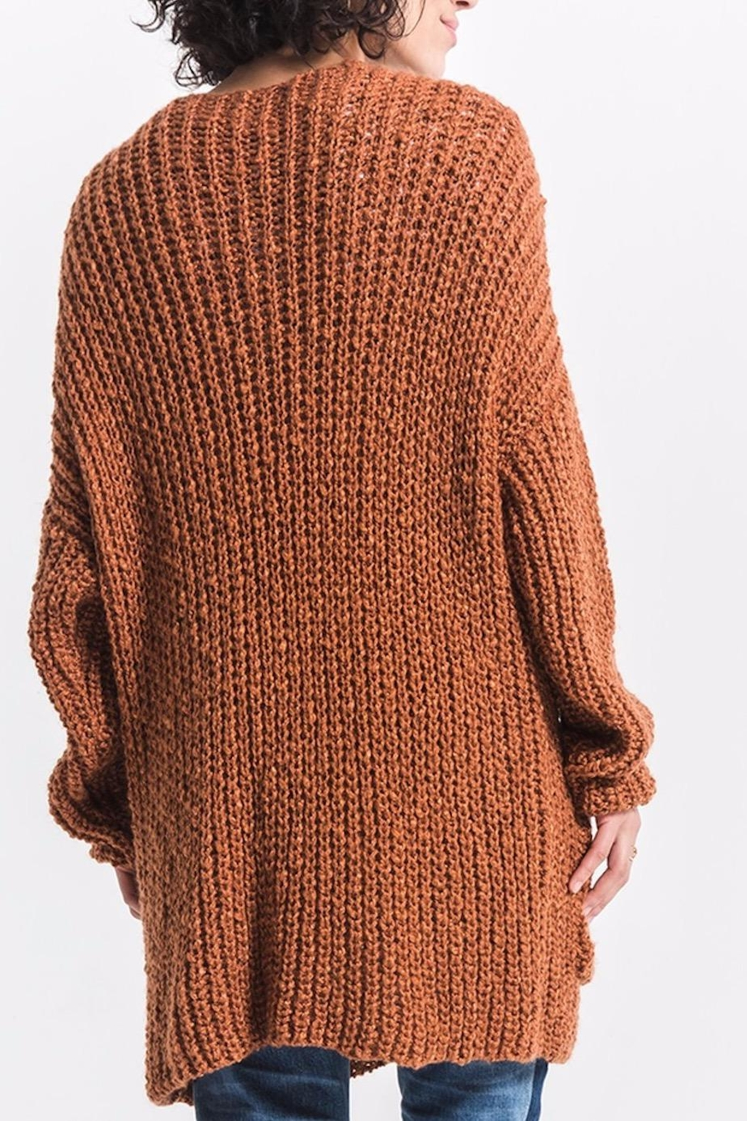 rag poets Chunky Knit Cardigan - Front Full Image