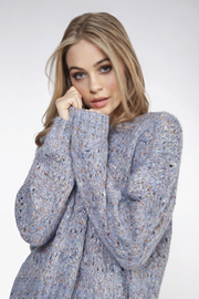 Dex Chunky Knit Confetti Sweater - Front cropped