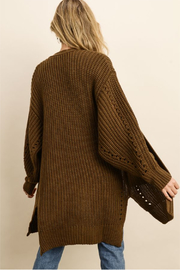 dress forum Chunky Knit Pocket Cardigan - Side cropped