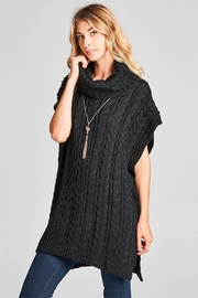 Love Kuza Chunky Knit Poncho - Product Mini Image