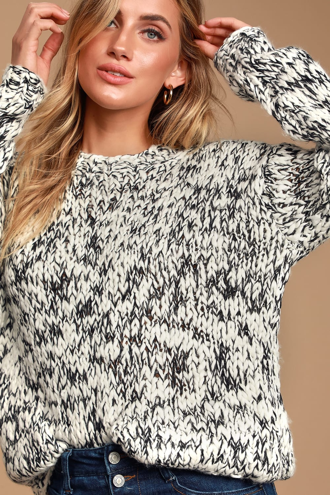 MINKPINK Chunky Knit Sweater - Front Full Image