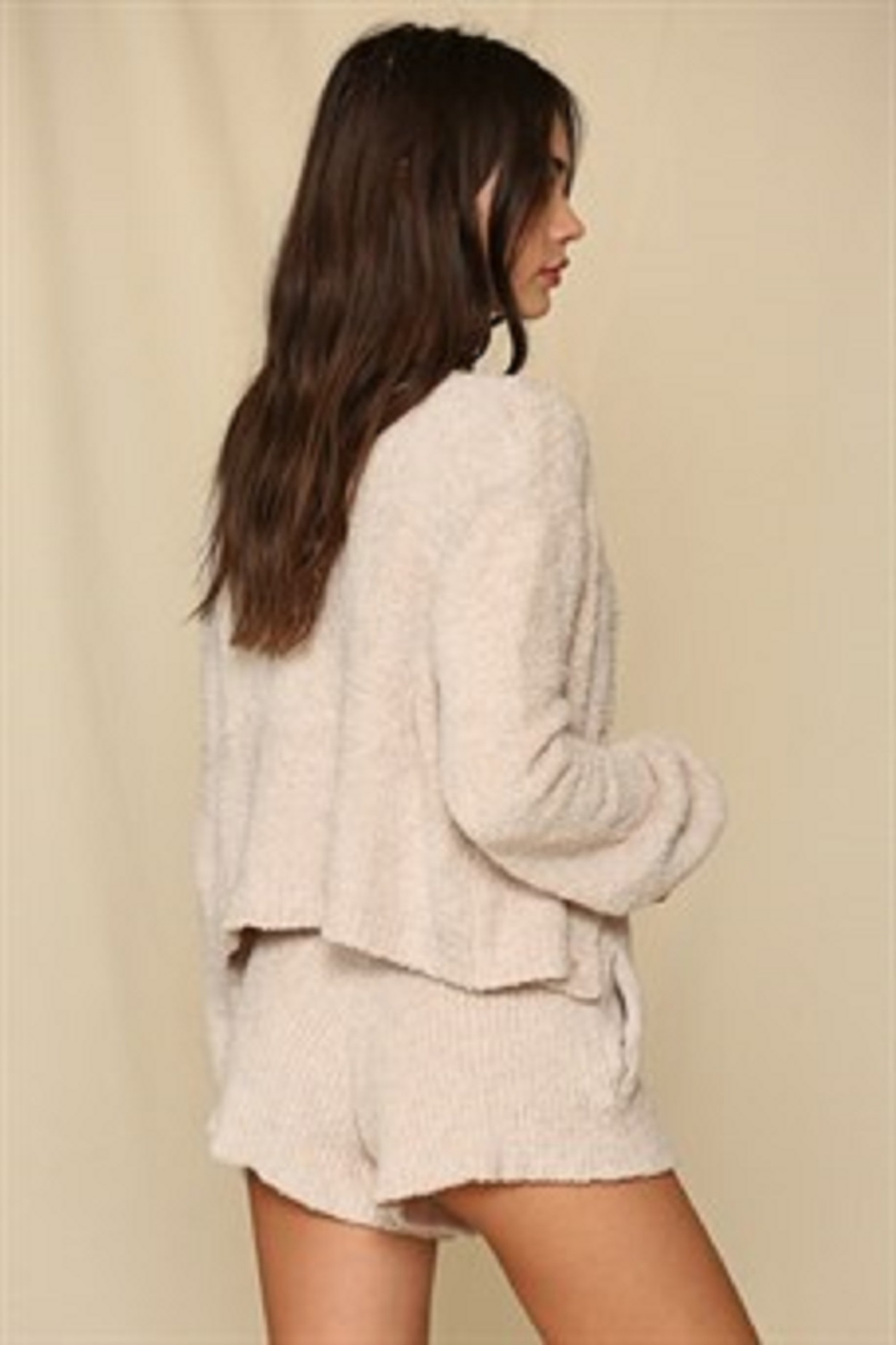 By Together  Chunky Knit Sweater Cardigan - Front Full Image