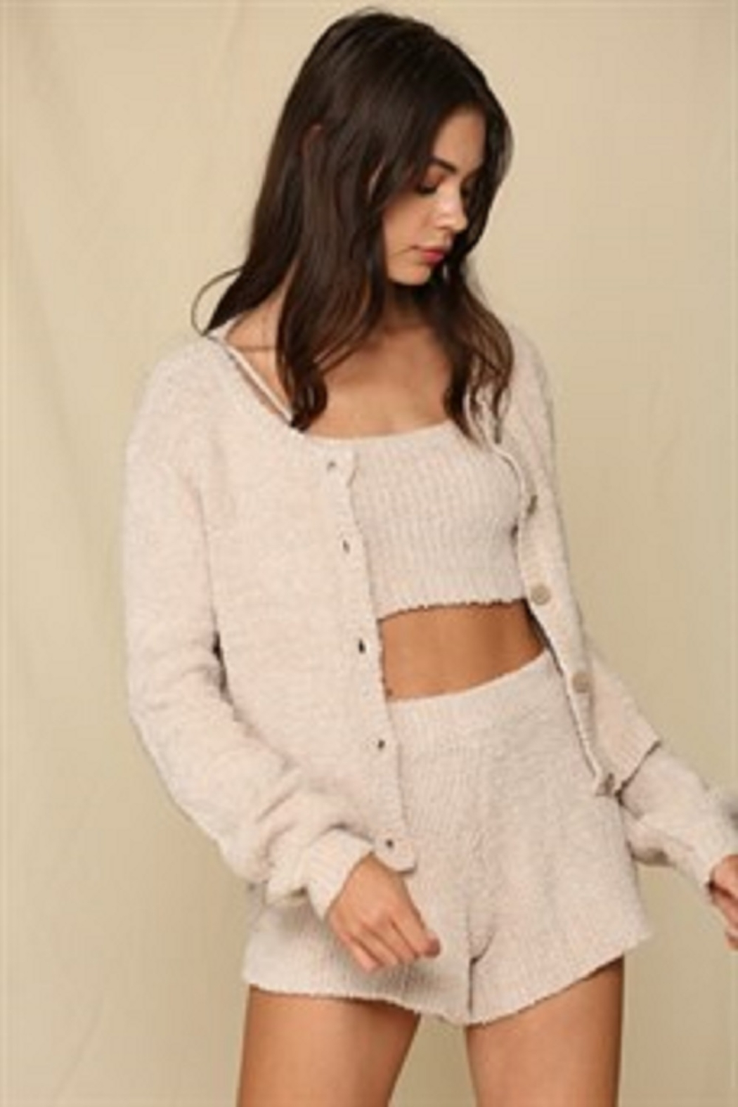 By Together  Chunky Knit Sweater Cardigan - Main Image