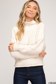 She and Sky Chunky Knit Turtleneck - Product Mini Image