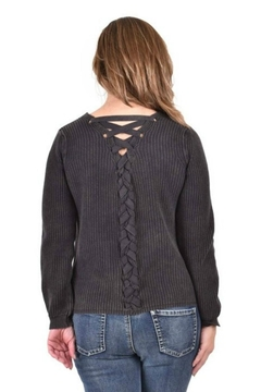 Ethyl Chunky Lace-Up Sweater - Alternate List Image