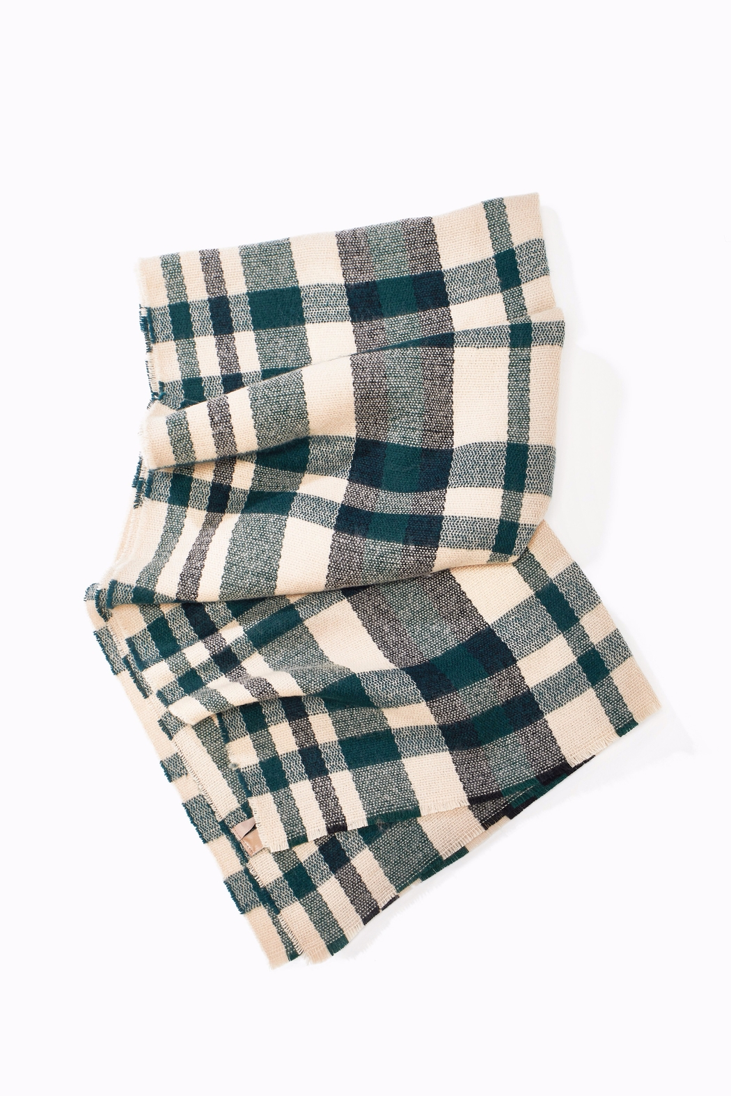 Look by M Chunky Plaid Scarf - Main Image