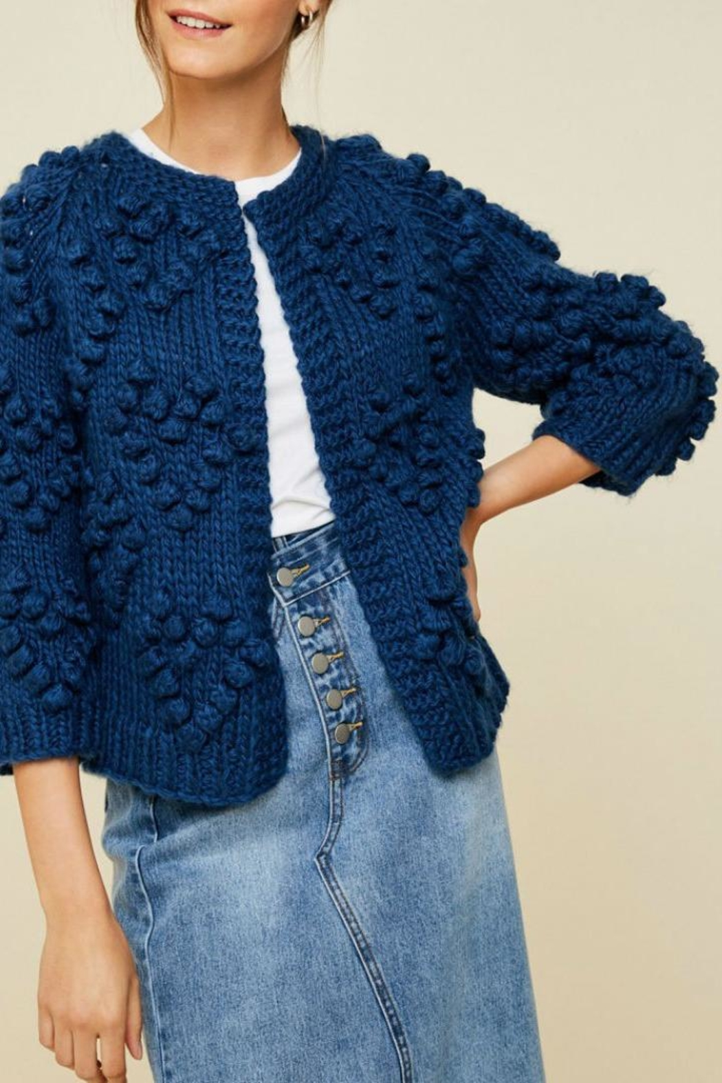 Hayden Los Angeles Chunky Pompom Sweater - Main Image
