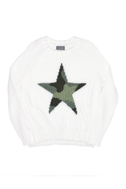 Wooden Ships Chunky Raglan Sleeve Star Sweater - Other