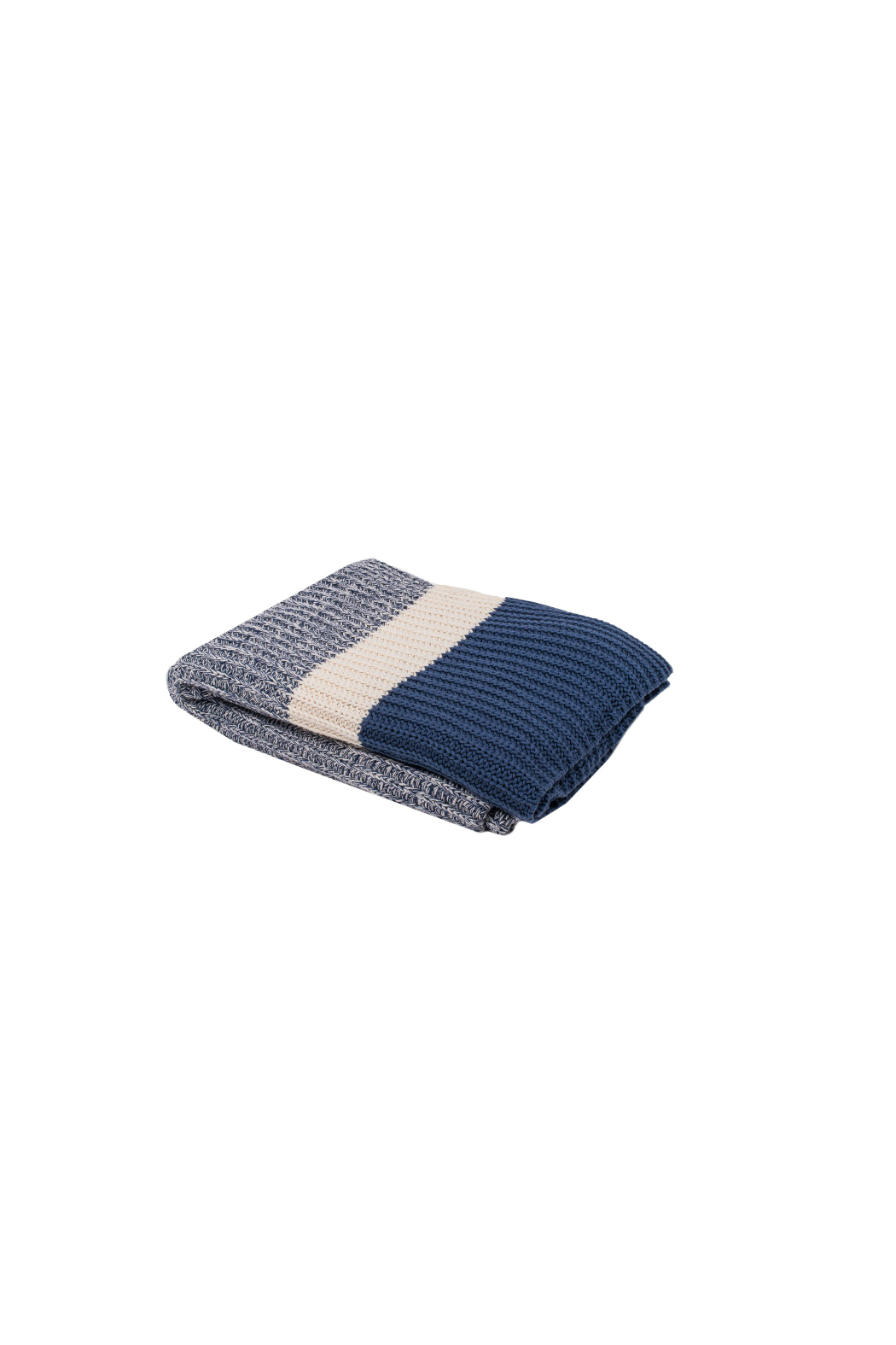 Darzzi Chunky Rib Knitted Throw - Front Full Image