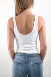 Articles of Society Chunky Ribbed Bodysuit - Front full body