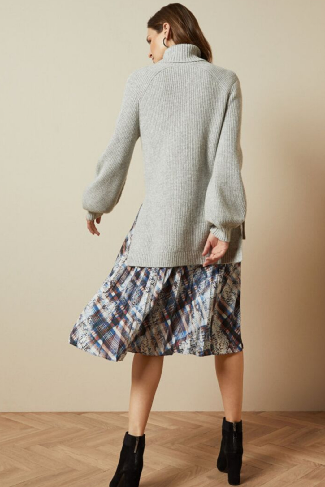 Ted Baker Chunky Roll Neck Sweater - Back Cropped Image