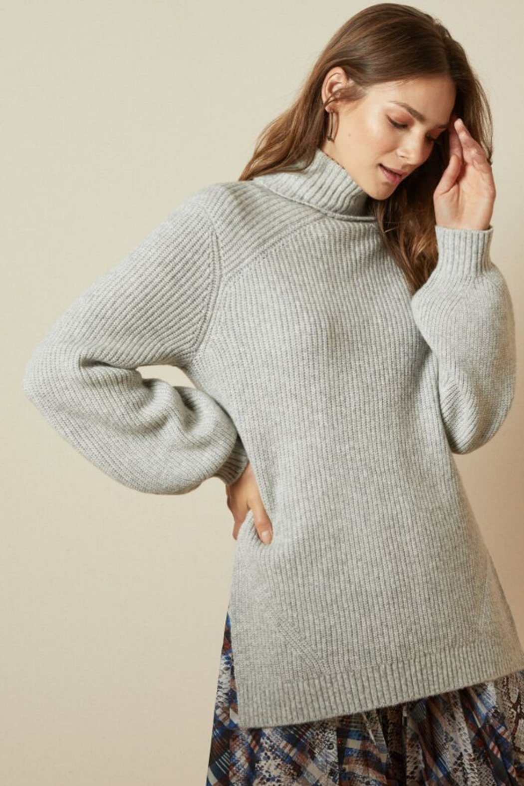 Ted Baker Chunky Roll Neck Sweater - Front Full Image