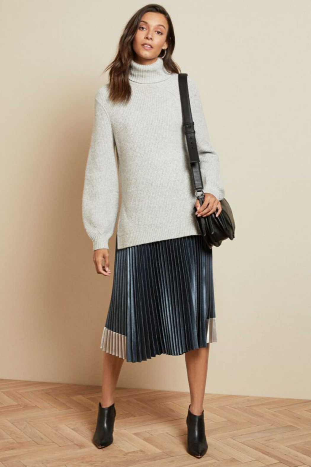 Ted Baker Chunky Roll Neck Sweater - Front Cropped Image