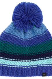 Echo Design Chunky Stripe Pom Pom Hat - Front cropped