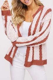 Listicle Chunky Striped Cardigan - Product Mini Image