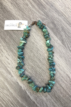 Jewelry Junkie Chunky Turquoise Short Necklace - Product List Image