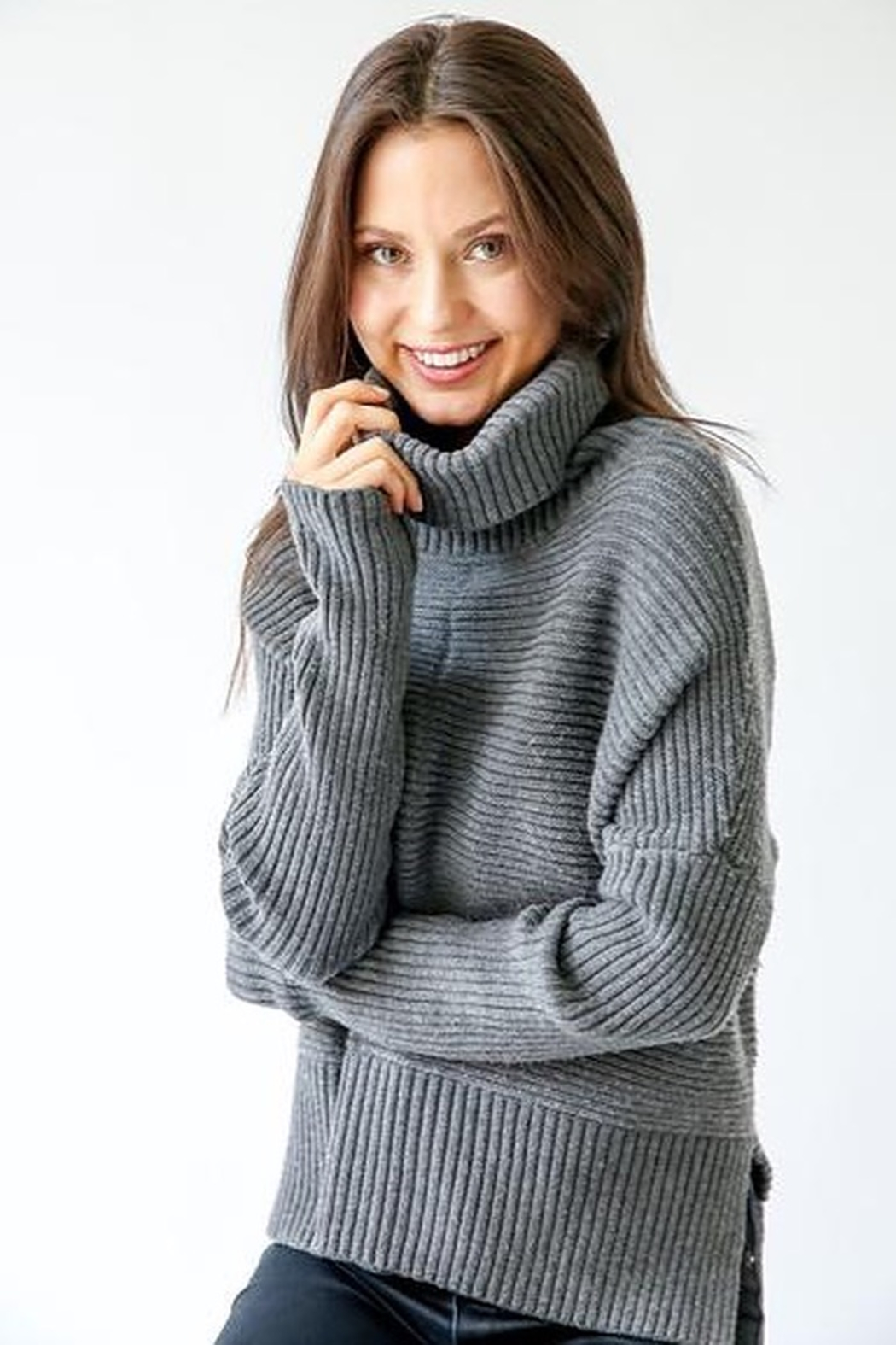 Six Fifty Chunky Turtleneck Sweater - Front Full Image