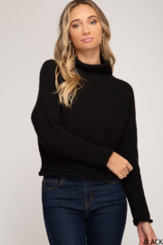 She + Sky Chunky Turtleneck Sweater - Product Mini Image