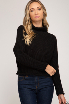 She + Sky Chunky Turtleneck Sweater - Product List Image