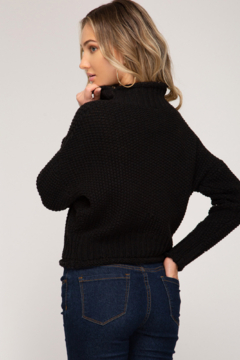 She + Sky Chunky Turtleneck Sweater - Alternate List Image