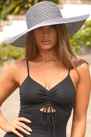 Chynna Dolls Black And Silver Beach Hat - Product Mini Image