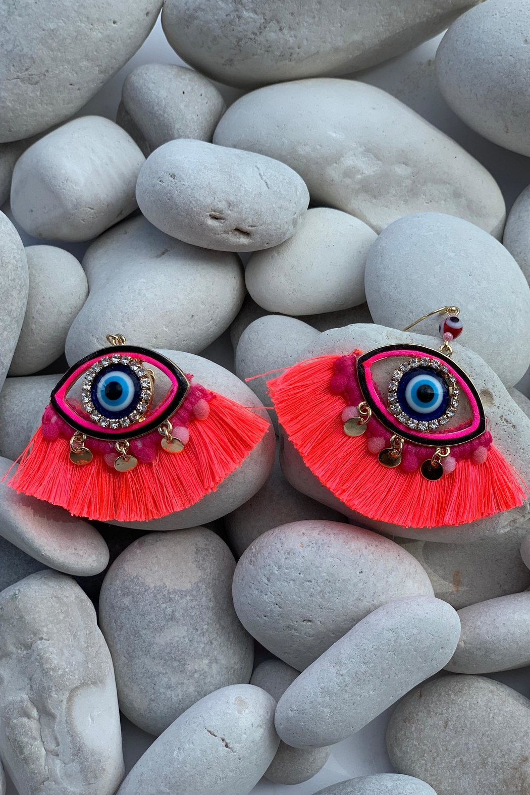Chynna Dolls Evil Eye Tassel Earrings - Main Image