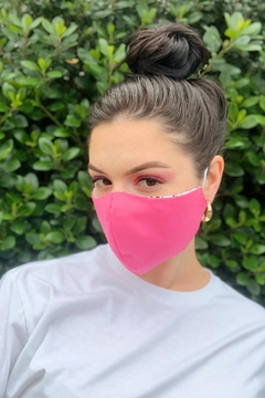 Chynna Dolls Fabric Face Mask: Music Notes x Pink - Alternate List Image
