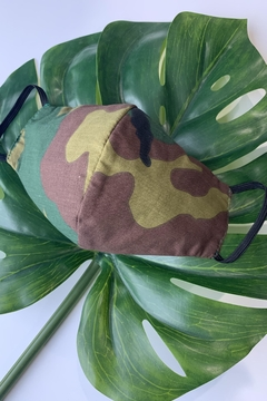 Chynna Dolls Face Mask: Reversible In Camouflage x Black - Product List Image