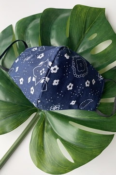 Chynna Dolls Face Mask: Reversible In Navy Bandanna x Navy - Product List Image