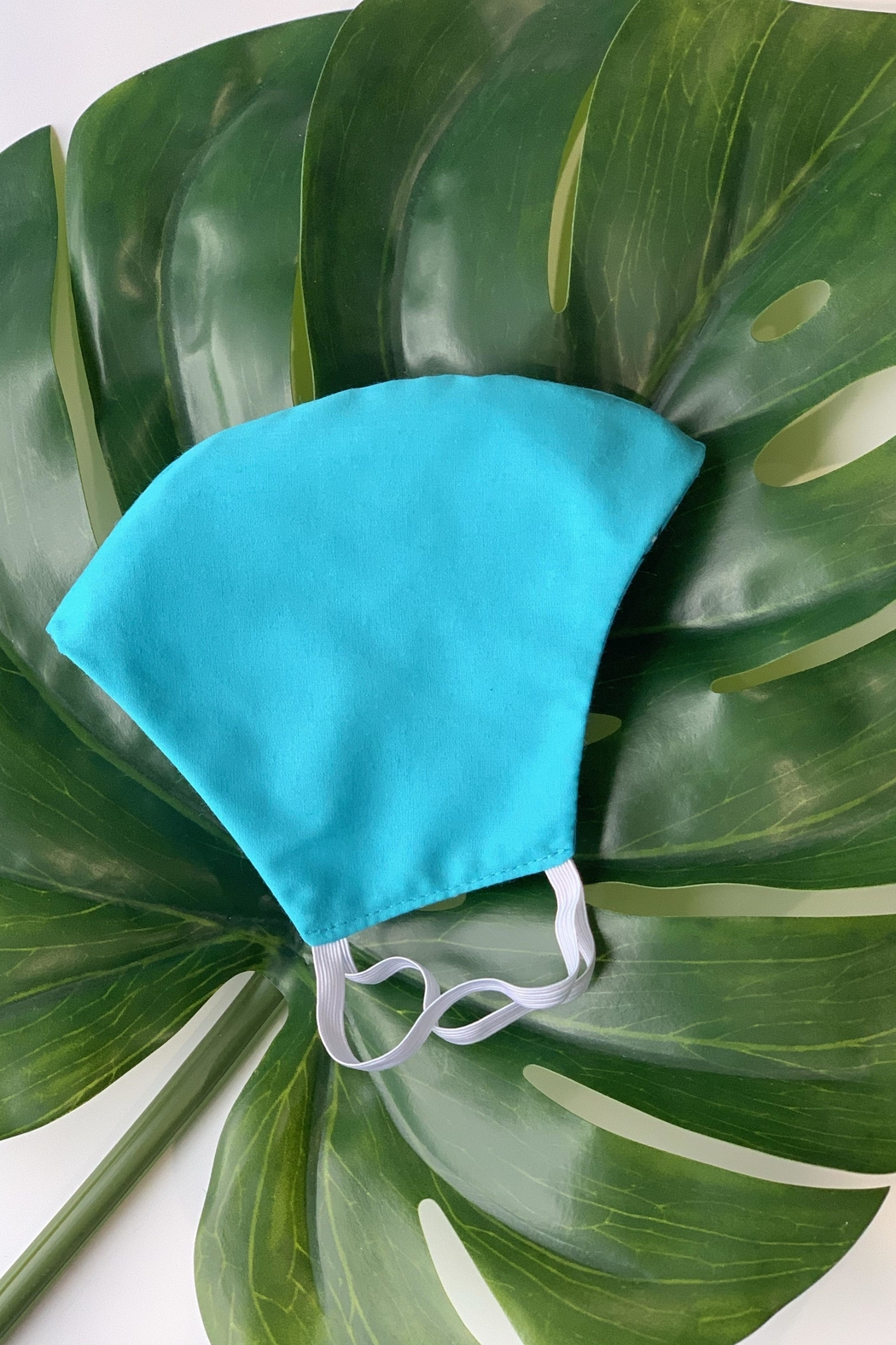 Chynna Dolls Face Mask: Reversible In Turquoise Bandanna x Turquoise - Front Full Image