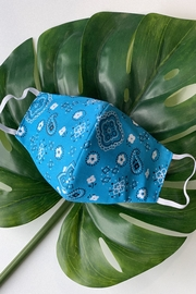 Chynna Dolls Face Mask: Reversible In Turquoise Bandanna x Turquoise - Product Mini Image