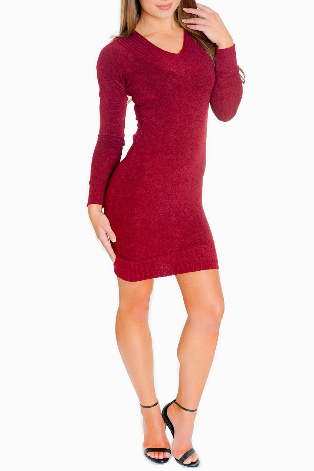 Chynna Dolls Gigi Sweater Dress - Front Cropped Image