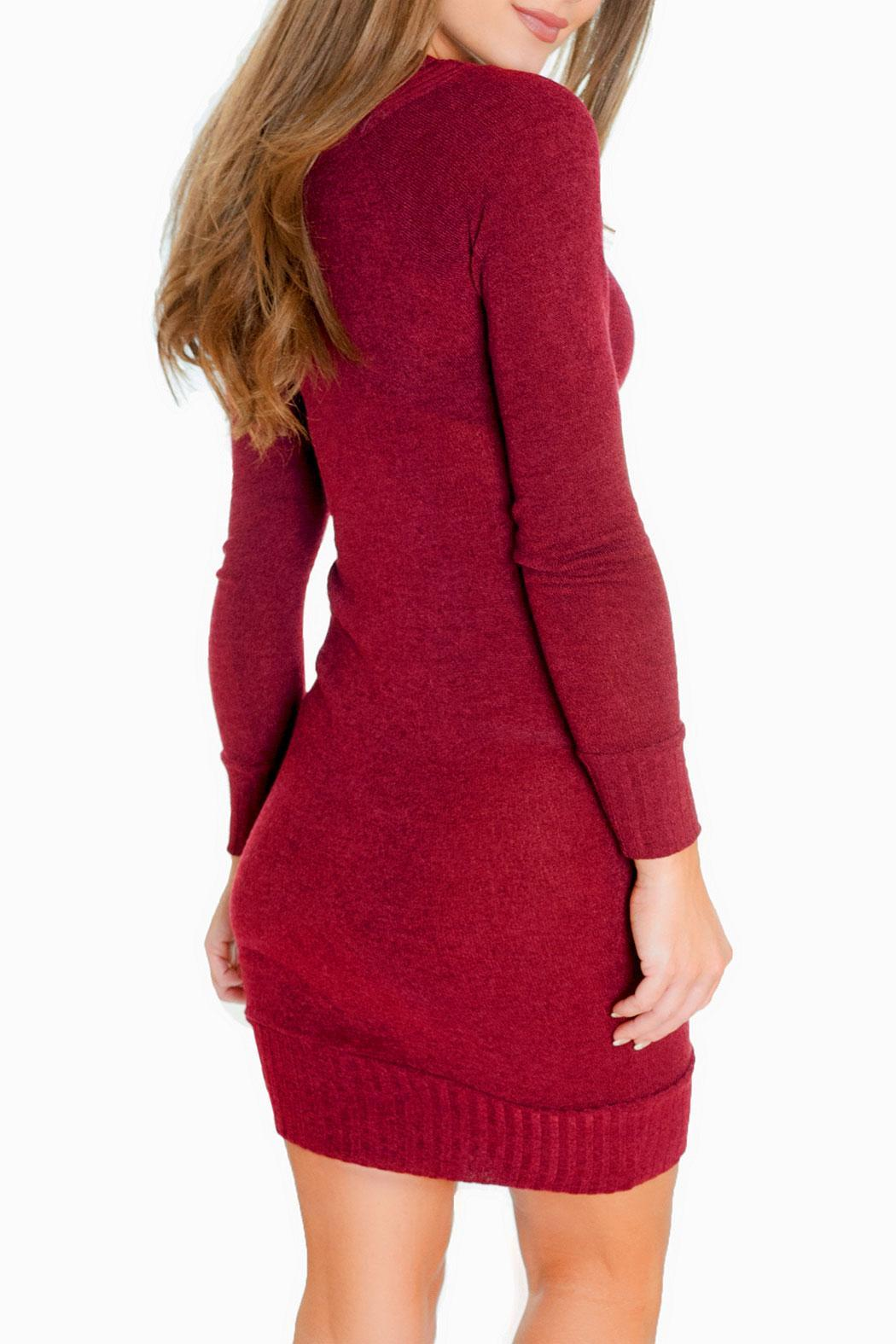 Chynna Dolls Gigi Sweater Dress - Side Cropped Image