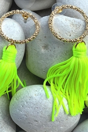 Chynna Dolls Hoop Tassel Earrings - Product Mini Image