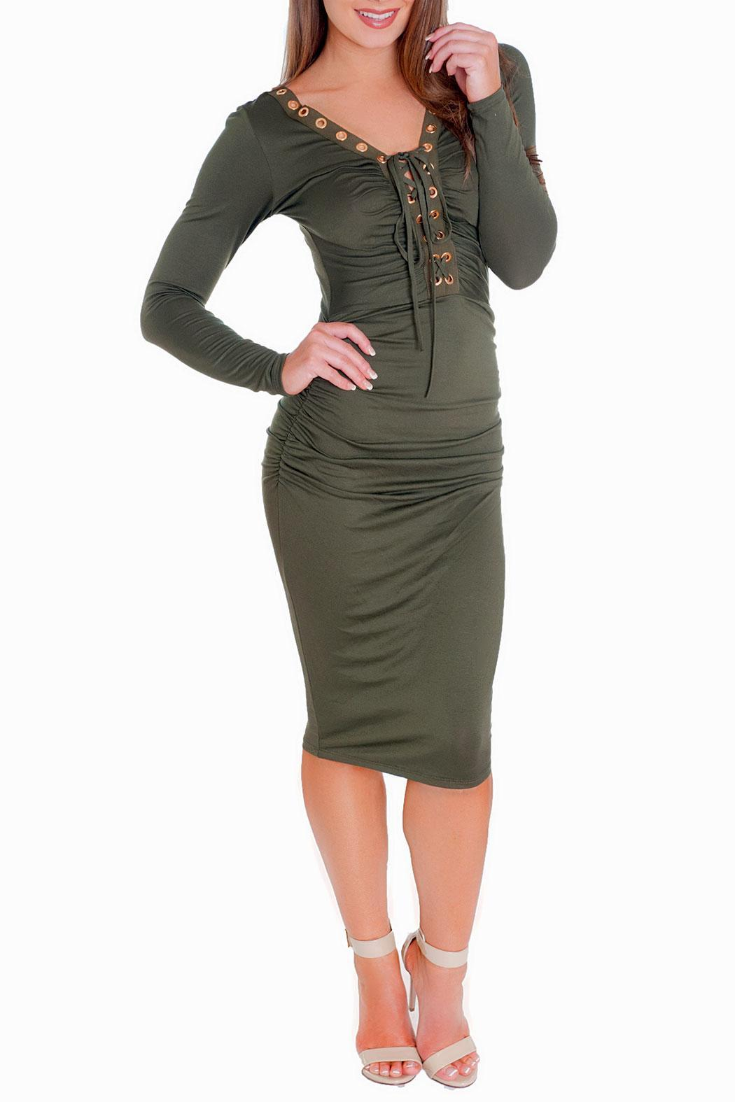 Chynna Dolls Jessica Midi Dress - Front Cropped Image