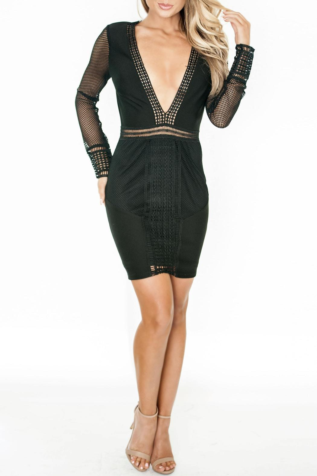 Chynna Dolls Keira Bodycon Minidress - Front Cropped Image