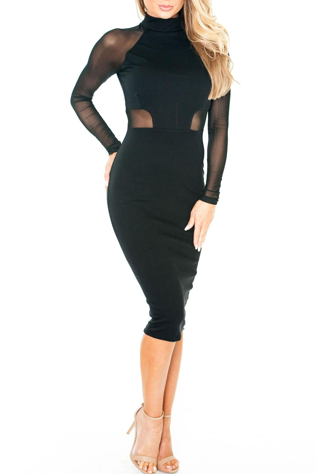 Chynna Dolls Olivia Bodycon Midi - Side Cropped Image