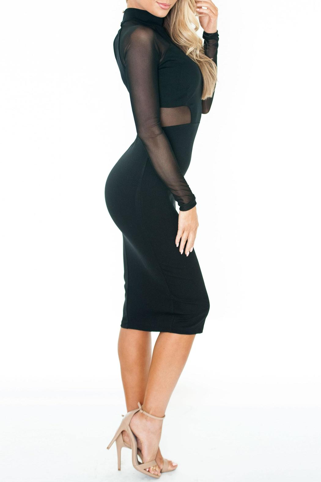 Chynna Dolls Olivia Bodycon Midi - Back Cropped Image