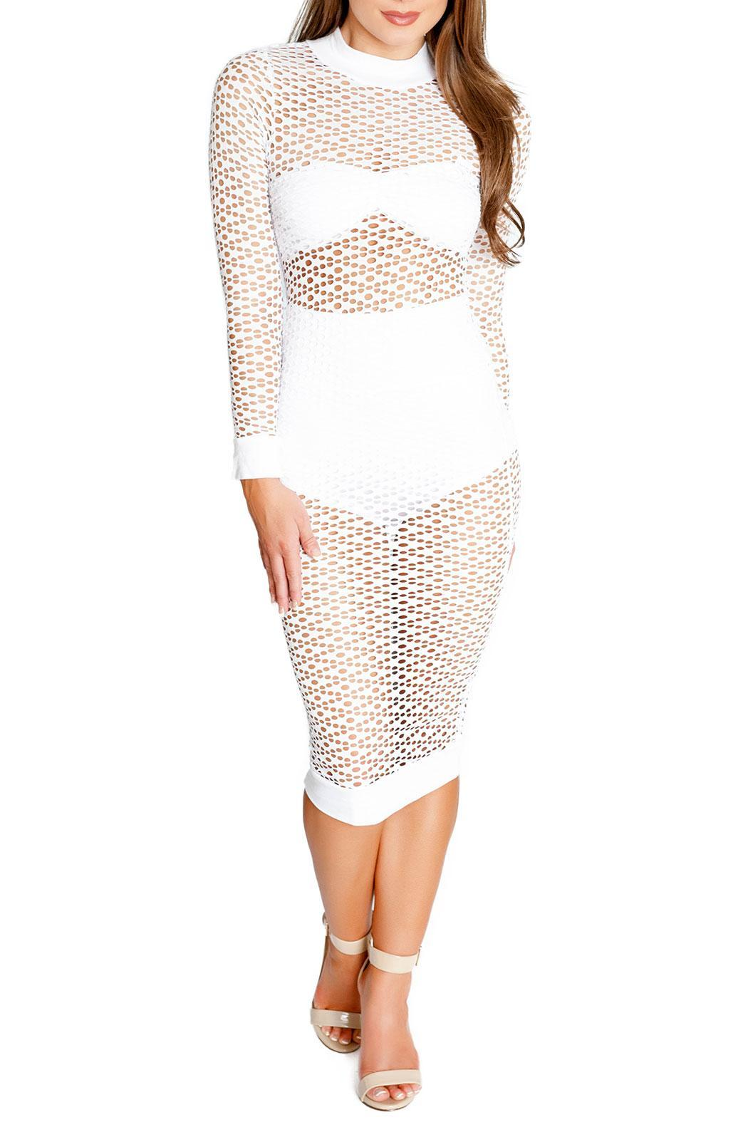 Chynna Dolls Maldives Oval Net Coverup - Front Cropped Image